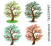set of tree logo design... | Shutterstock .eps vector #761529967