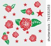 wild rose graphic design vector ... | Shutterstock .eps vector #761531353