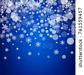 new year snowflakes on blue... | Shutterstock .eps vector #761559457