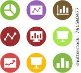 origami corner style icon set   ... | Shutterstock .eps vector #761560477