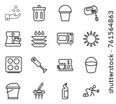 thin line icon set   chemical... | Shutterstock .eps vector #761564863