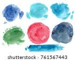 hand made watercolor texture  ... | Shutterstock . vector #761567443