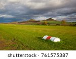 small airport  central bohemian ... | Shutterstock . vector #761575387