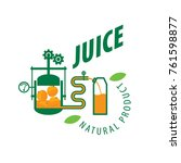 logo of fresh juice | Shutterstock .eps vector #761598877