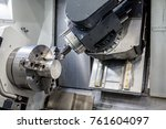 open cnc machine with snap | Shutterstock . vector #761604097