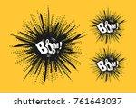 comic speech bubble stars....   Shutterstock . vector #761643037