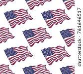 american flag seamless pattern... | Shutterstock .eps vector #761646517