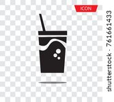 fast food icon vector  plastic... | Shutterstock .eps vector #761661433
