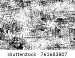 grunge black and white pattern. ... | Shutterstock . vector #761683807