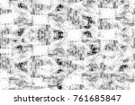 grunge black and white pattern. ... | Shutterstock . vector #761685847