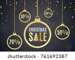poster for christmas sale... | Shutterstock .eps vector #761692387
