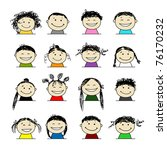 smiling people icons for your... | Shutterstock .eps vector #76170232
