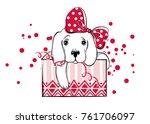 christmas illustration with... | Shutterstock .eps vector #761706097