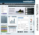 web design website element... | Shutterstock .eps vector #76172203