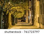 Lonely Alley In A Street At...