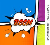 comic collection   word boom ... | Shutterstock .eps vector #761733973