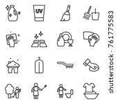 Thin Line Icon Set   Cleanser ...
