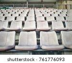 Row White Chair Seat Grandstan...