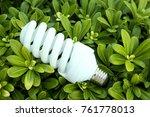 bulb on the bushes  | Shutterstock . vector #761778013