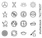 thin line icon set   diagram ... | Shutterstock .eps vector #761778157