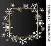 christmas background. frame... | Shutterstock .eps vector #761780383