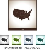 map of usa | Shutterstock .eps vector #761790727