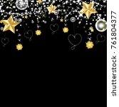 beautiful vector of gold star... | Shutterstock .eps vector #761804377