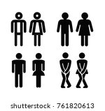lady and a man toilet sign.... | Shutterstock .eps vector #761820613