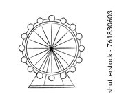 ferris wheel icon image  | Shutterstock .eps vector #761830603