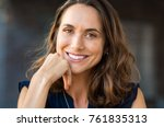 portrait of a happy smiling... | Shutterstock . vector #761835313