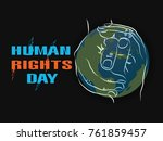 human rights  human rights are... | Shutterstock .eps vector #761859457