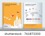 corporate business cover book... | Shutterstock .eps vector #761872333
