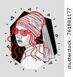 t shirt design   printing ... | Shutterstock .eps vector #761881177