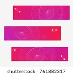 minimal banner templates with... | Shutterstock .eps vector #761882317