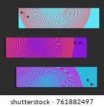 minimal banner templates with... | Shutterstock .eps vector #761882497