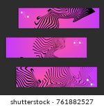 minimal banner templates with... | Shutterstock .eps vector #761882527