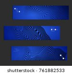 minimal banner templates with... | Shutterstock .eps vector #761882533
