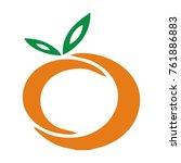 orange fruit vector logo | Shutterstock .eps vector #761886883
