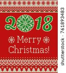 merry christmas and new year... | Shutterstock .eps vector #761893483