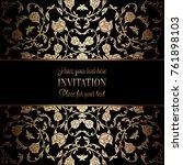 vintage baroque wedding... | Shutterstock .eps vector #761898103