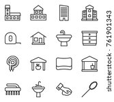 thin line icon set   mansion ...   Shutterstock .eps vector #761901343