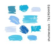 blue vector  strokes of marker... | Shutterstock .eps vector #761904493