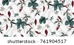 seamless floral pattern in... | Shutterstock .eps vector #761904517