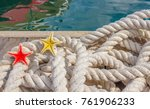 detail of a rope for mooring... | Shutterstock . vector #761906233