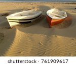 boats on beach at siculiana... | Shutterstock . vector #761909617