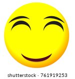 emotional face icon with yellow ... | Shutterstock .eps vector #761919253