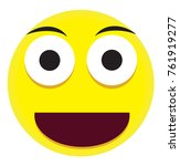 emotional face icon with yellow ... | Shutterstock .eps vector #761919277
