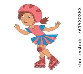 roller girl sport infant... | Shutterstock .eps vector #761930383