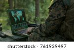 military operation in action ... | Shutterstock . vector #761939497