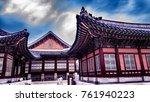 kyeongbokgung palace bedroom... | Shutterstock . vector #761940223